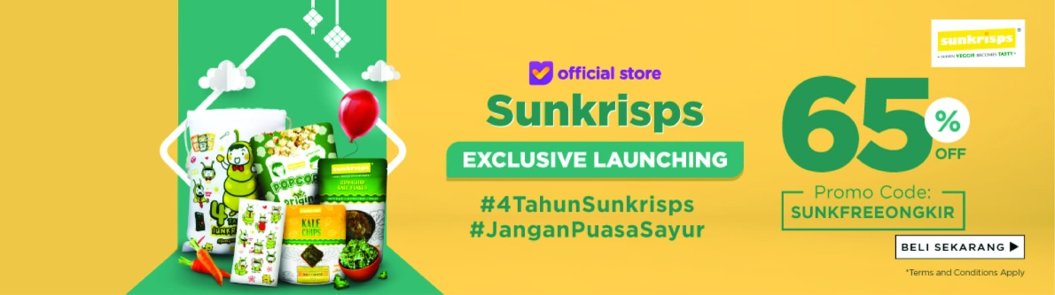 Sunkrisps Exclusive launching disc 65%
