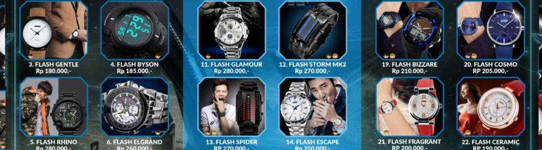 Jam Tangan Flash LED