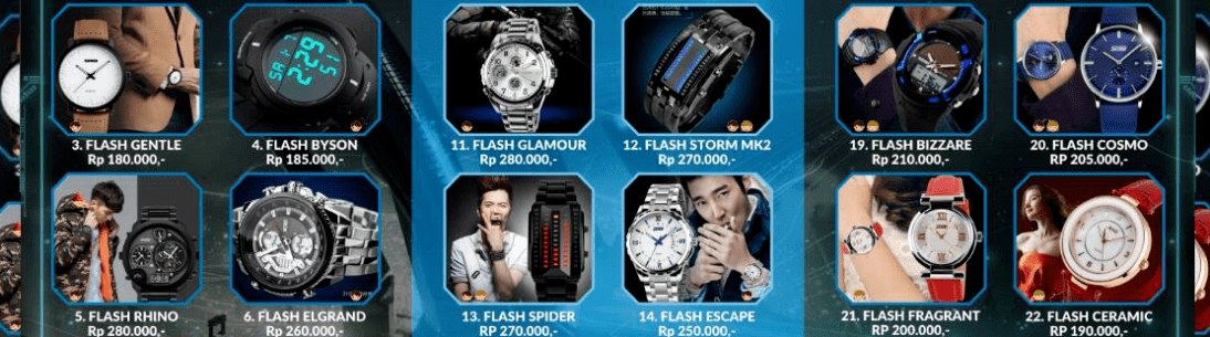 Jam Tangan Flash LED