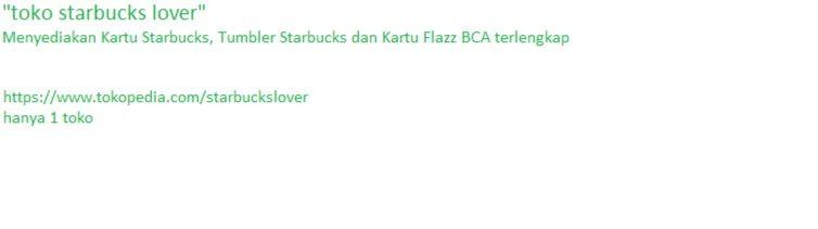 Toko Starbucks lover