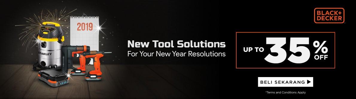 Tahun baru, Resolusi baru, Peralatan baru Bersama Black Decker! Diskom up to 35%