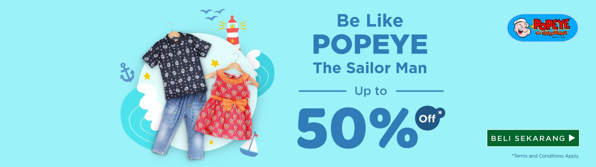 Popeye Official Launching Discount Up to 50%
