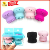 FACIAL BRUSH SILICONE FACIAL BRUSH PEMBERSIH MAKEUP - Ungu thumbnail