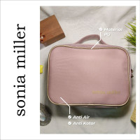 Sonia Miller Makeup Pouch rectangular solid simple organizer -Pink thumbnail