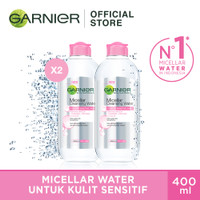 Garnier Micellar Water Pink 400ml (Twin Pack) thumbnail
