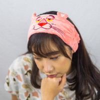 IKAT RAMBUT HEADBAND HAIRBAND BANDO BANDANA CUCI MUKA PINK PANTHER - Pink Tua thumbnail