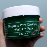READY STOCK AXIS-Y MUGWORT PORE CLARIFYING WASH OFF PACK SHARE IN JAR - 10ml thumbnail