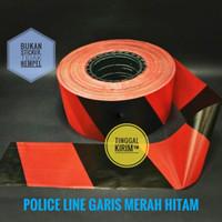 "Police Line Barricade Tape 3"" x 300 meter Garis Dua Warna"