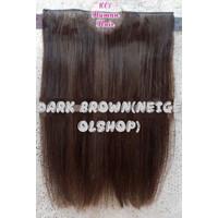 Hair clip asli (human hair) 30-40 cm 1 LAYER(BIG LAYER) thumbnail