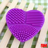 Pembersih Brush Make Up Bahan Silikon Food Grade - Ungu thumbnail