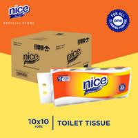 Karton - Nice Tissue Toilet Roll Core Emboss 10 Roll x 10pcs