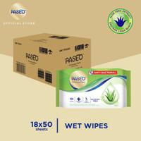 Karton - Paseo Tissue Basah Anti Bacterial 50 Sheets x 18 pcs (Karton)