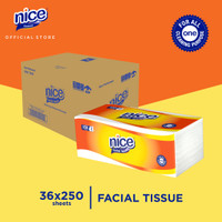 Karton - Nice Tissue Wajah Soft Pack 250 Sheets x 36 pcs