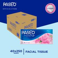 Karton - Paseo Elegant Tissue Wajah Soft Pack 250 Sheets x 40 pcs