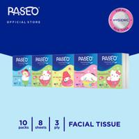 Paseo Character Tissue Wajah Hanky Edisi Sanrio 10 Packs 8 Sheets