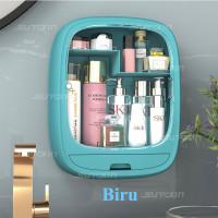 Rak Kosmetik Gantung-9122 Rak Kosmetik Rak Make Up Rak Organizer - Biru Muda thumbnail