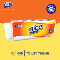 Nice Tissue Toilet Roll Core Emboss 230 Sheets x 10 Roll