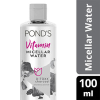Ponds Vitamin Micellar Water (Makeup Remover) D-Toxx Charcoal 100ml thumbnail