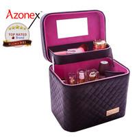 Tas Make Up Pouch Kotak Kosmetik Beauty Case Kosmetik 2 Layer - TrayEstensBlack thumbnail
