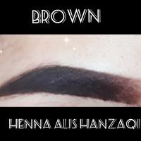 Henna alis Henna brow HanzaQi super premium - Cokelat, henna+kuas thumbnail