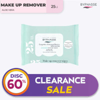 Byphasse Make-Up Remover Wipes Aloe Vera Sensitive Skin 25U. thumbnail
