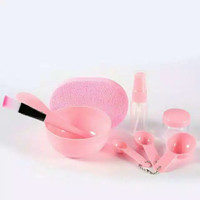 Mask Beauty Tool Set - Mangkuk Masker Se 7in1 - Kuas + Sendok dll thumbnail