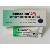 Benzolac 2,5 % Gel 5 GR - Obat untuk Jerawat, Inflamasi