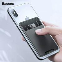 Baseus Sticky Card Holder Dompet Kartu Tempelan HP Perekat Pocket HP