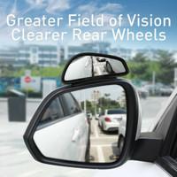 Baseus Large View Reversing Kaca Spion Cembung Blind Spot Car Mirrors