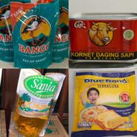 paket sembako murah (KECAP, KORNET, MINYAK GORENG, BLUEBAND)