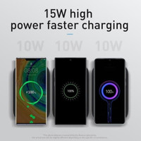 Baseus Wireless Charger Docking 15W Qi Fast Charging Vertical Foldable