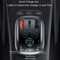 Baseus Car Charger Quick Charge 4.0 PD 3.0 FM Transmitter Bluetooth
