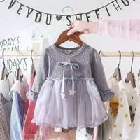 Dress Bayi Anak Perempuan Lucu Gaun Pesta Baju Pakaian Tali Bintang