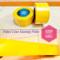 "Police Line Barricade Tape 3""x300 mtr Kuning Polos"
