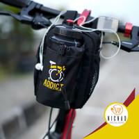 Tas Handlebar Sepeda Lipat Tas Botol Minum Multifungsi Premium