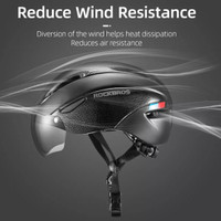 ROCKBROS WT-018S Helm Sepeda With Magnetic Lens Ultralight