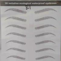 Stiker Tatto Eyebrow 3D 10 psg - E01 thumbnail