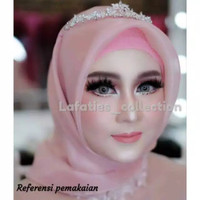 Mahkota simple sanggul sirkam headpiece hairpiece hiasan rambut hijab thumbnail