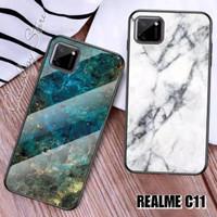 CASE Realme C11 Tempered Glass Soft Silicone Frame Hard