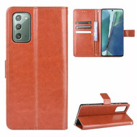 SAMSUNG Galaxy Note 20 Flip Case Leather Dompet hp kulit lipat restro