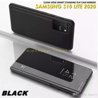 SAMSUNG Galaxy S10 LITE Flip Case Clear View Mirror Standing Cover