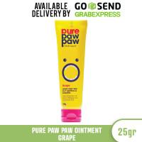 PURE PAW PAW Ointment 25 gr Pelembap Bibir , Kulit, Luka Bakar - Grape thumbnail