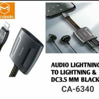 mcdodo audio adapter converter to jack audio 3.5mm dan jack lightning