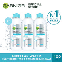 Garnier Micellar Water Blue 400ml Pack of 3 thumbnail