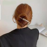 Tusuk Sanggul Hiasan Rambut Hair pin Aksen Mutiara Aksesoris Sanggul thumbnail