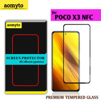 POCO X3 NFC AOMYTO TEMPERED GLASS PREMIUM FULL GLUE