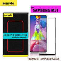 SAMSUNG M51 AOMYTO TEMPERED GLASS PREMIUM FULL GLUE