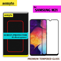 SAMSUNG M21 AOMYTO TEMPERED GLASS PREMIUM FULL GLUE