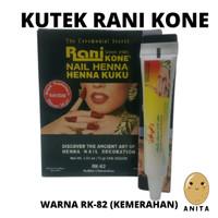 HENNA RANIKONE RK 82 NAIL DECORATION PASTE GREEN PACK 6 GRAM KUTEK H thumbnail