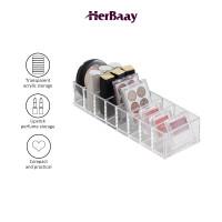 Acrylic makeup custom,tempat bedak akrilik,display powder organizer - Transparan thumbnail